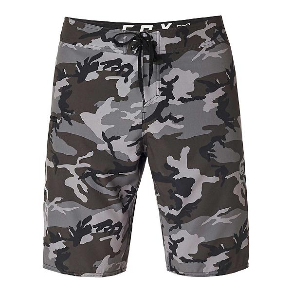 Fox Overhead Camo Stretch Mens Board Shorts, Black Camo, 600