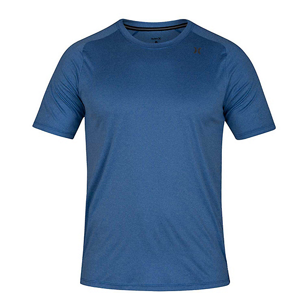 Hurley Quick Dry Short Sleeve Mens Rash Guard 2019, Team Royal Heather, 600