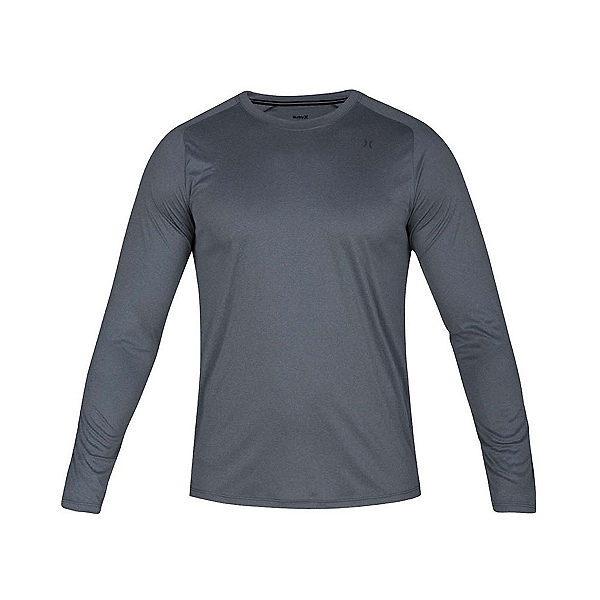Hurley Quick Dry Long Sleeve Mens Rash Guard, Cool Grey Heather, 600