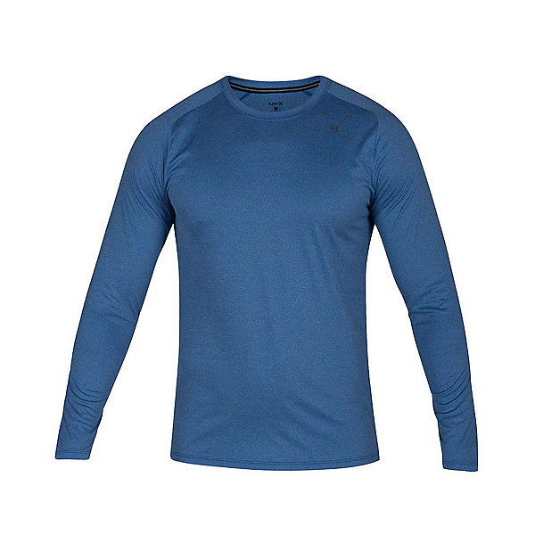 Hurley Quick Dry Long Sleeve Mens Rash Guard, Team Royal Heather, 600