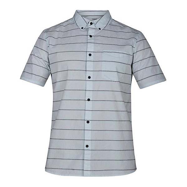 Hurley Keanu Stripe Mens Shirt, Topaz Mist, 600