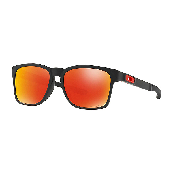 Oakley Catalyst Prizm Sunglasses, Matte Black-Prizm Ruby, 600