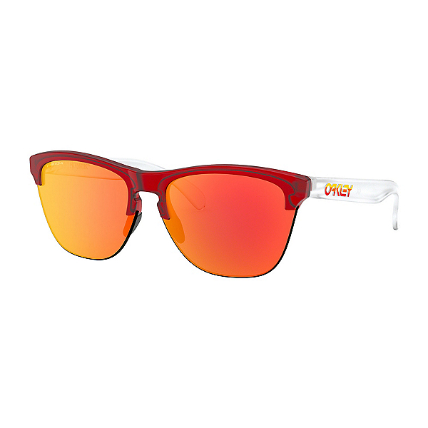 Oakley Frogskins Lite Grips Prizm Sunglasses, Translucent-Prizm Ruby, 600