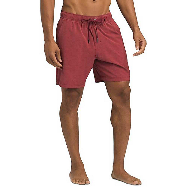 Prana Metric E-Waist Zip Mens Board Shorts, Rusted Roof, 600