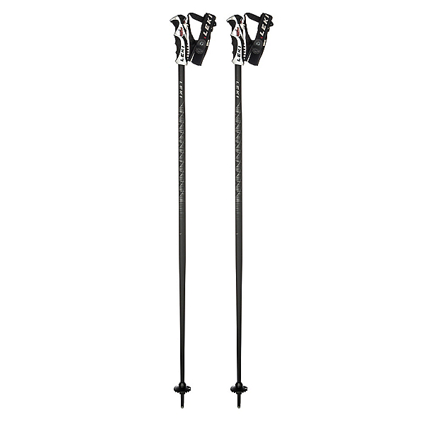 Leki Project 19 Ski Poles, Black-Grey, 600