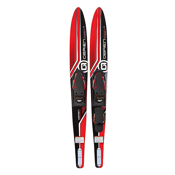 O'Brien Celebrity Combo Water Skis With X-7 Adjustable Bindings 2020, Red, 600
