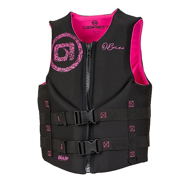 O'Brien Traditional Neoprene Womens Life Vest 2020, Black-Pink, 600