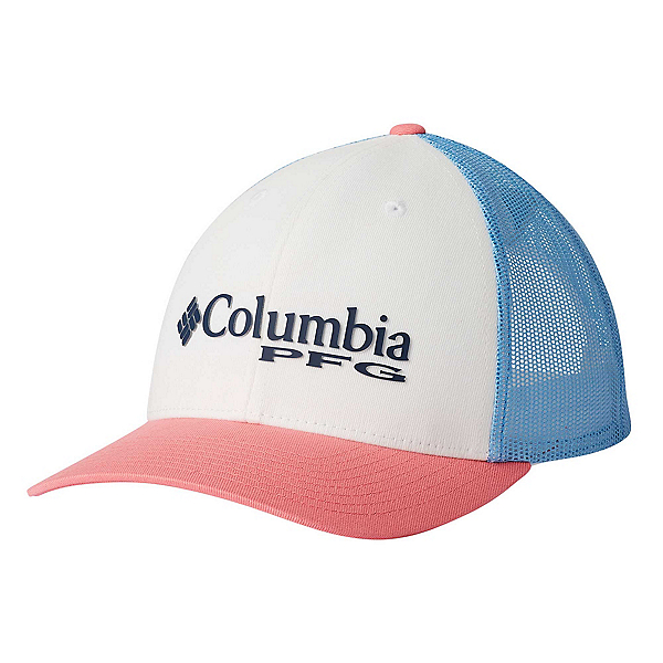 Columbia PFG Mesh Womens Hat, White-Sail-Lollipop, 600