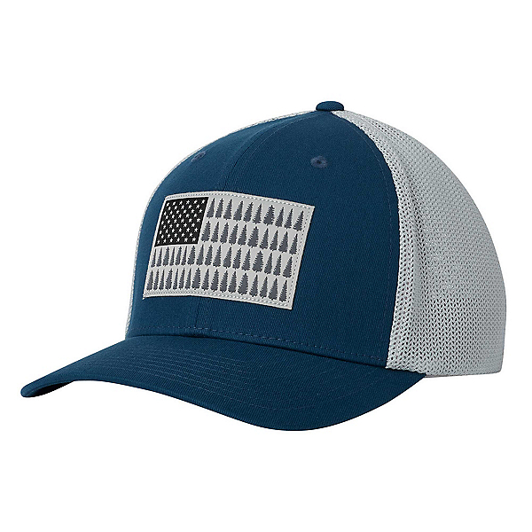 Columbia Mesh Tree Flag Hat, Petrol Blue-Cool Grey, 600