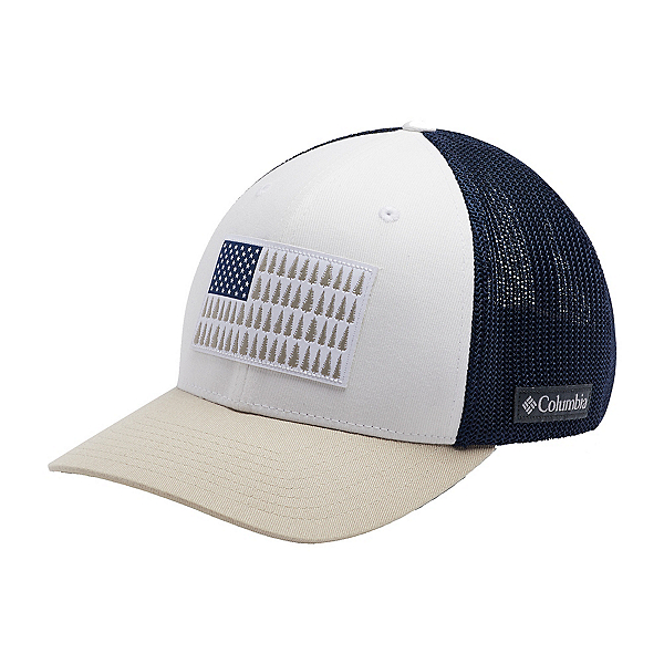 Columbia Mesh Tree Flag Hat 2020, White-Carbon-Fossil, 600