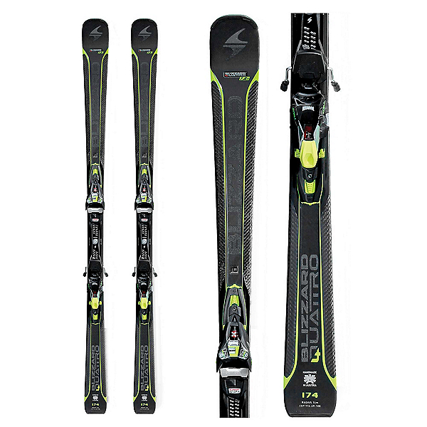 Blizzard Quattro 7.2 Ti Skis with X Cell 12 Bindings, , 600