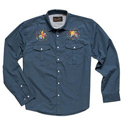 ab2d602e413fb8 Howler Brothers Gaucho Snap Mens Shirt, Cobalt Microstripe Dos Gallos, 256