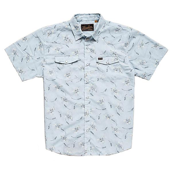 Howler Brothers H Bar B Snap Mens Shirt, Grainfields Print Shower Blue, 600