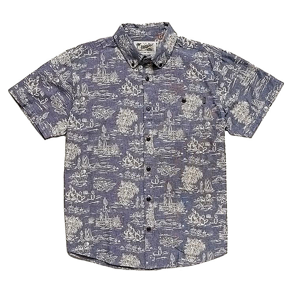 Howler Brothers Mansfield Mens Shirt 2019, Outpost Print Indigo, 600