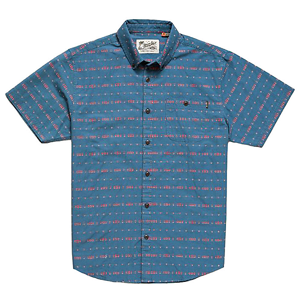Howler Brothers Mansfield Mens Shirt, Portals Dobby Mid Blue, 600
