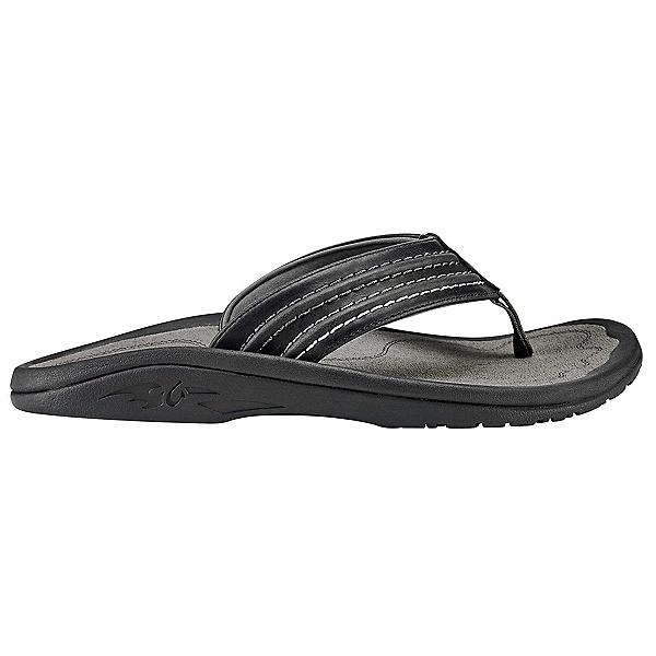 OluKai Hokua 'Ale Mens Flip Flops, Black-Charcoal, 600