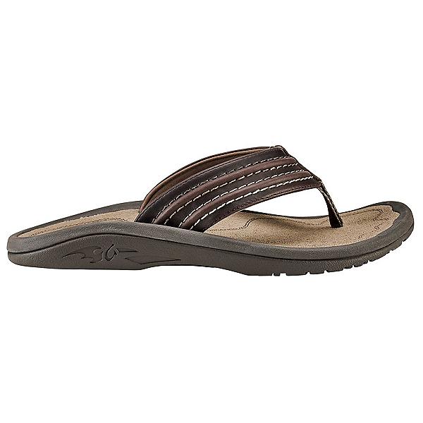 OluKai Hokua 'Ale Mens Flip Flops, Dark Wood-Clay, 600