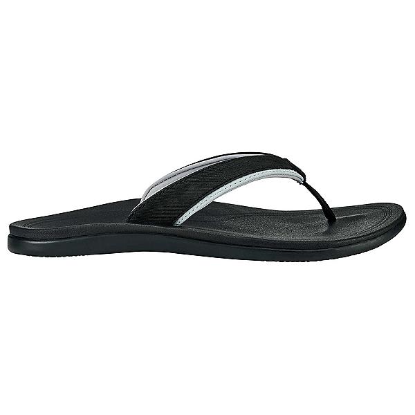 OluKai Punua Womens Flip Flops, Black-Black, 600