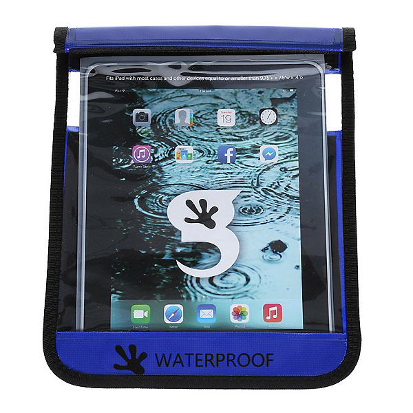 Geckobrands Waterproof Large Tablet Bag Dry Bag, Royal Blue, 600