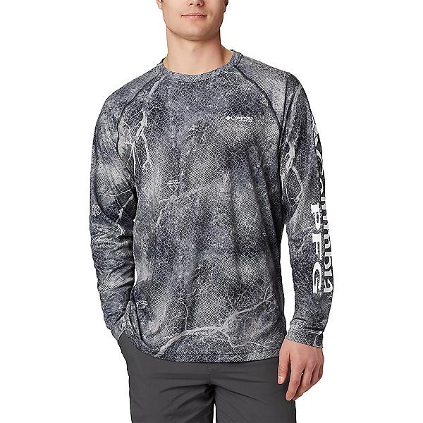 Columbia PFG Super Terminal Tackle Long Sleeve Mens Shirt 2020, Black Realtree Mako, 600
