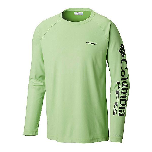 Columbia Terminal Deflector Long Sleeve Mens Shirt, Green Mamba-Black, 600