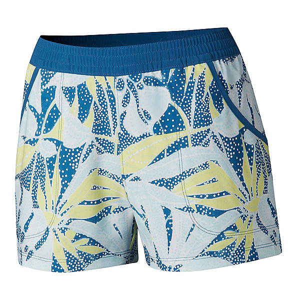 Columbia Tidal Womens Shorts, Impulse Blue Dotty Palms, 600