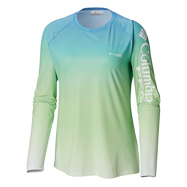 Columbia Tidal Deflector Womens Shirt, Hyper Blue Gradient, 600