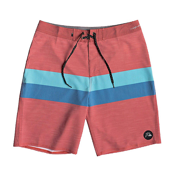 Quiksilver Highline Seasons Mens Board Shorts, Brick Red, 600
