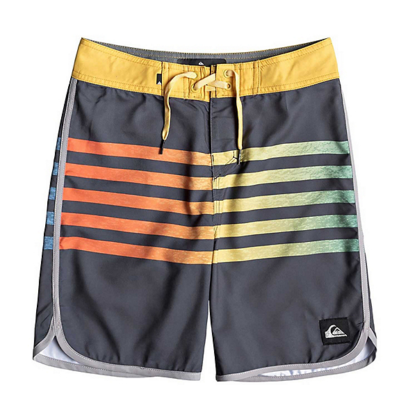 Quiksilver Everyday Grass Roots Boys Bathing Suit, Ebony, 600