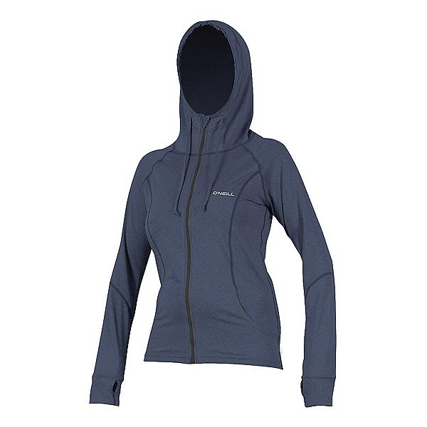 O'Neill Hybrid Long Sleeve Full Zip Sun Hoodie Womens Rash Guard, , 600