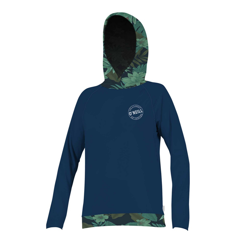 O'Neill Print Long Sleeve Hoodie Womens Rash Guard im test