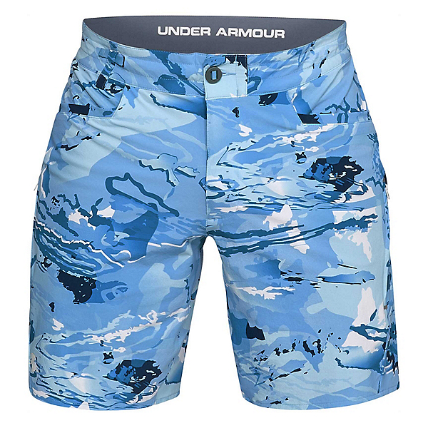 Under Armour Shoreman Mens Board Shorts, Ua Blue Hydro Camo-Elemental, 600