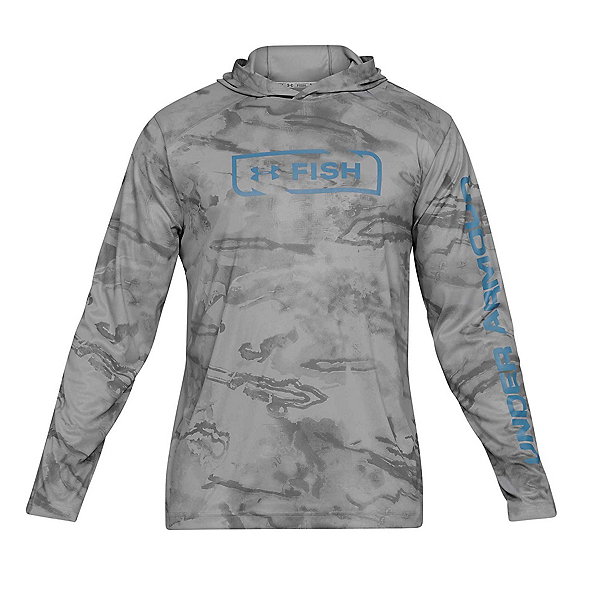 Under Armour Iso-Chill Shore Break Camo Mens Hoodie, Steel-Thunder, 600