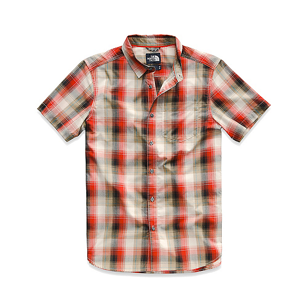 The North Face Hammetts Short-Sleeve Mens Shirt, TNF Black Ash Plaid, 600
