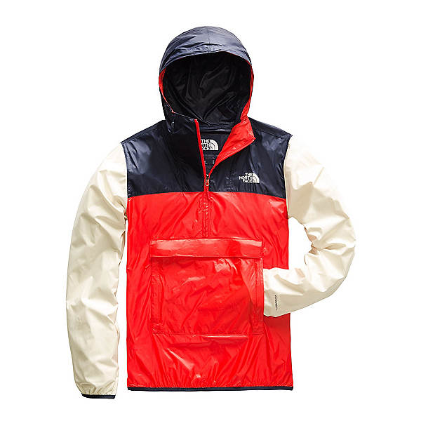 The North Face Fanorak Mens Jacket, Fiery Red-Urban Navy-Peyote Be, 600