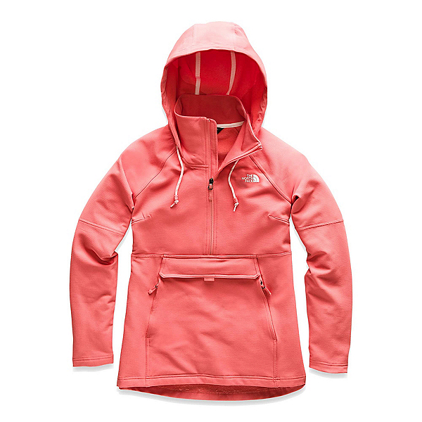 The North Face Tekno Ridge Pullover Womens Hoodie (Previous Season), Spiced Coral-Spiced Coral, 600