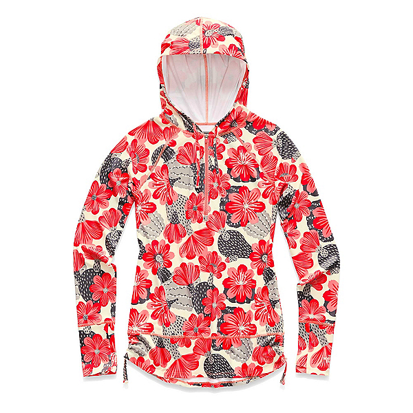 The North Face Shade Me Womens Hoodie (Previous Season), Spiced Coral Barrel Floral Pri, 600