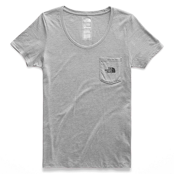 The North Face Gradient Dreams Pocket Womens T-Shirt, TNF Light Grey Heather, 600