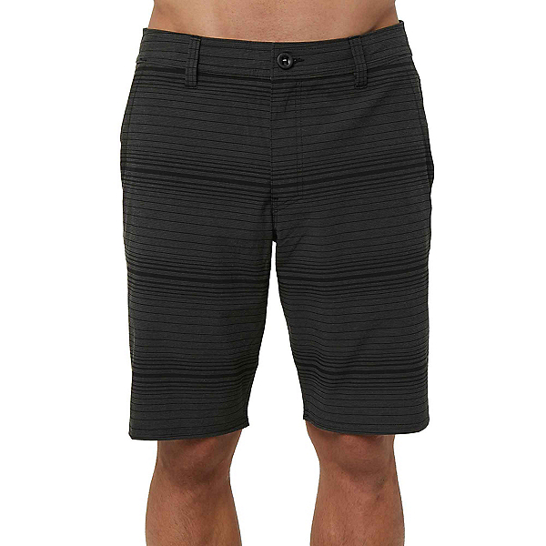 O'Neill Locked Stripe Mens Hybrid Shorts, Black, 600