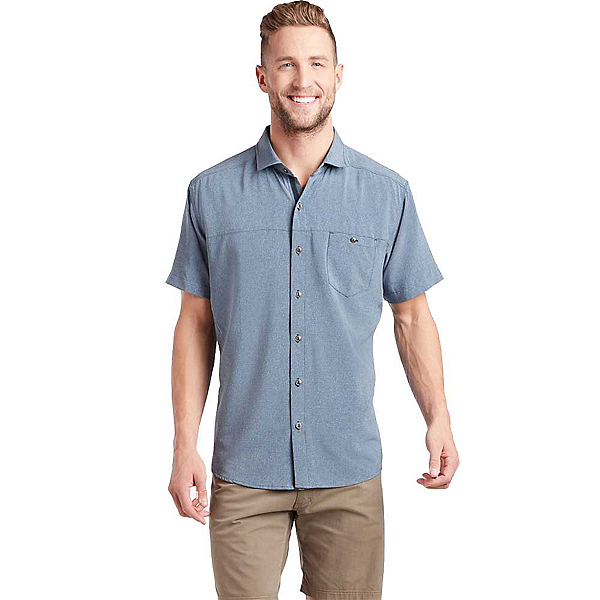 KUHL Optimizr SS Mens Shirt, Blue Gravel, 600