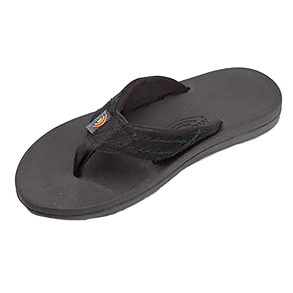Rainbow Sandals East Cape Mens Flip Flops, Black, 600