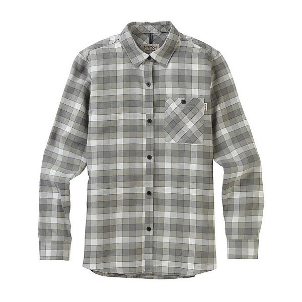 Burton Grace Long Sleeve Womens Shirt 2019, Phantom Montage Plaid, 600