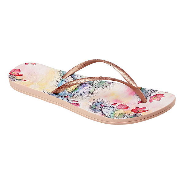 Reef Escape Lux Print Womens Flip Flops, Cactus Flower, 600