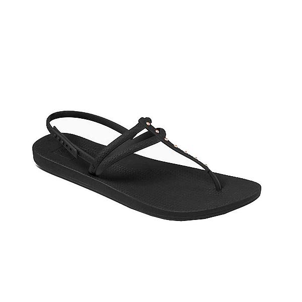 Reef Escape Lux T-Stud Womens Flip Flops, Antique Black, 600
