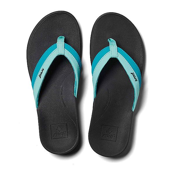 Reef Ortho-Bounce Coast Womens Flip Flops, Aqua, 600