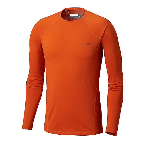 Columbia Midweight Stretch Long Sleeve Mens Long Underwear Top, Backcountry Orange, 600