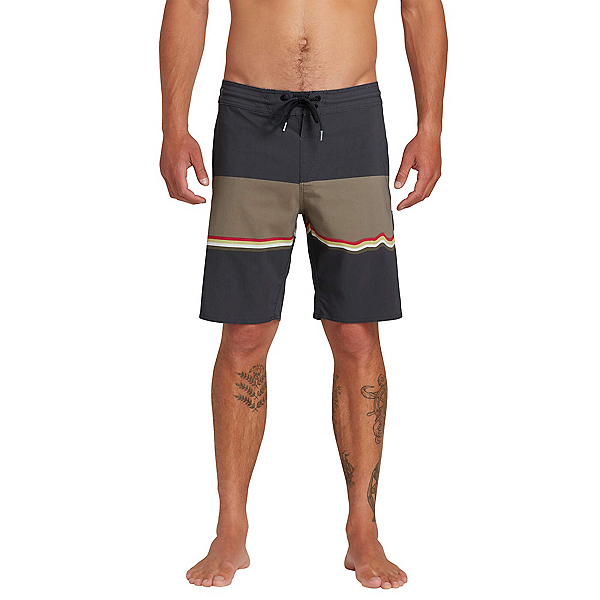 Volcom 3 Quarta Stoney Mens Board Shorts, Asphalt Black, 600