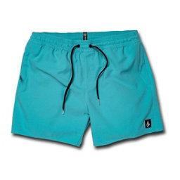 586649000a Volcom Lido Volley Mens Board Shorts, Cyan Blue, 256