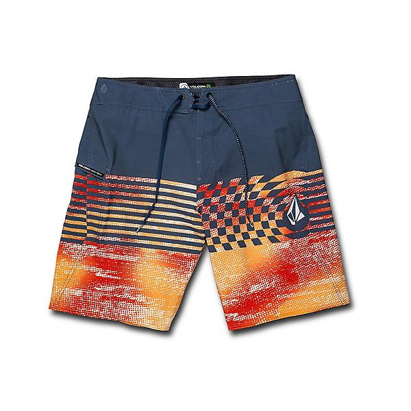 Volcom Lido Block Mod Mens Board Shorts, Indigo, 600
