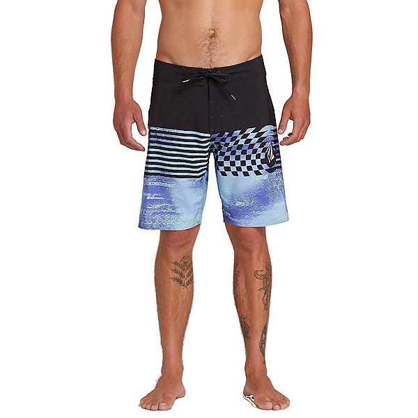 Volcom Lido Block Mod Mens Board Shorts, Dark Purple, 600